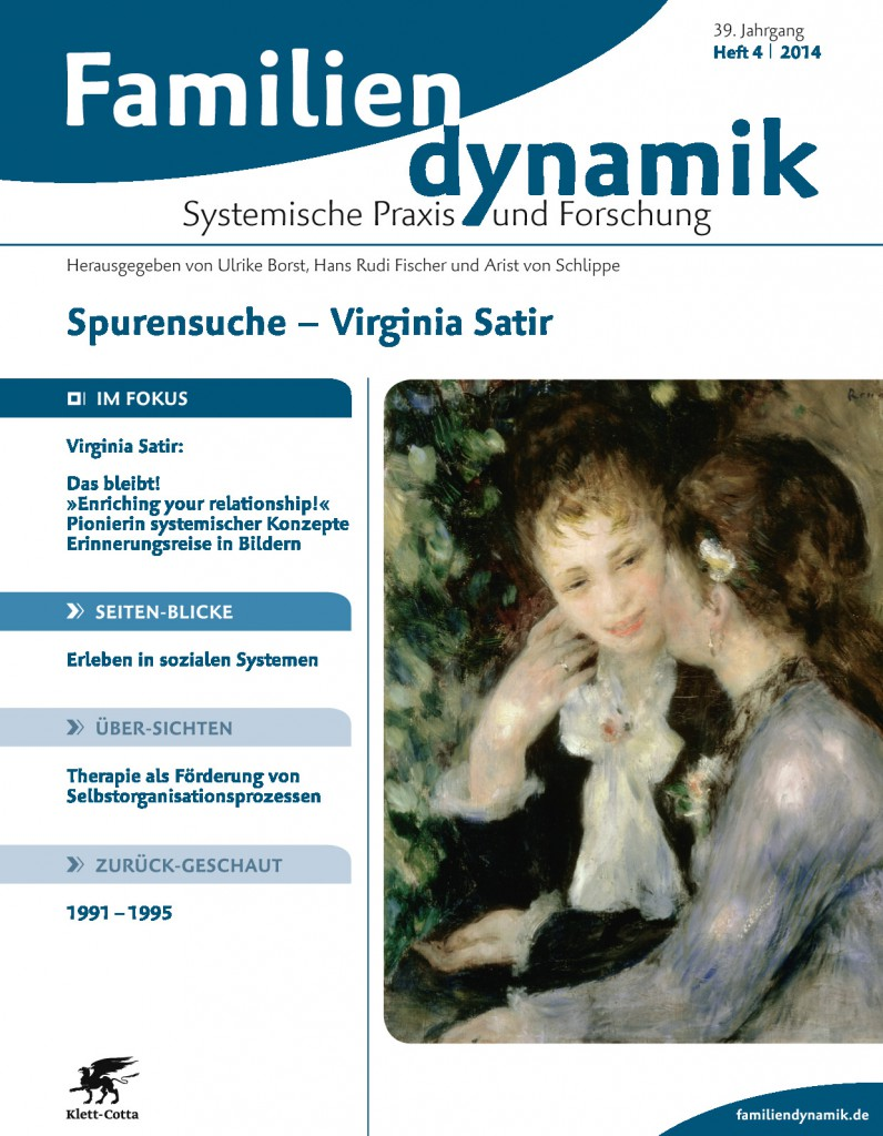 Familiendynamik 39(4): Virginia Satir