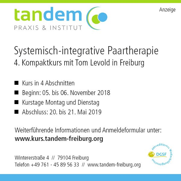 Kompaktkurs systemisch-integrative Paartherapie mit Tom Levold