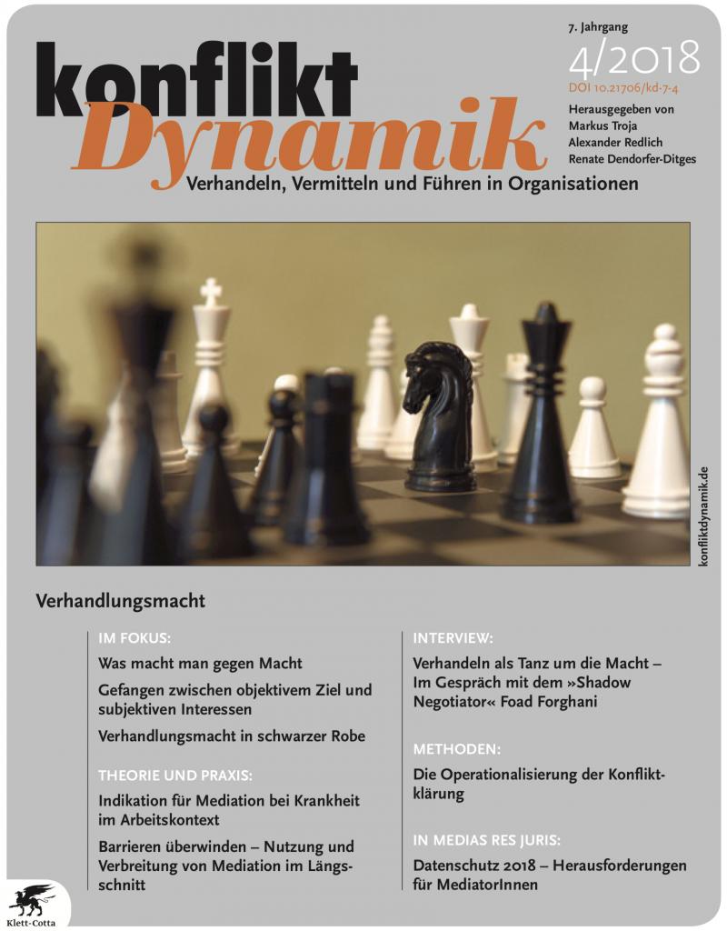 Verhandlungsmacht. Konfliktdynamik 4/2018